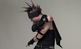 goth guy dancing